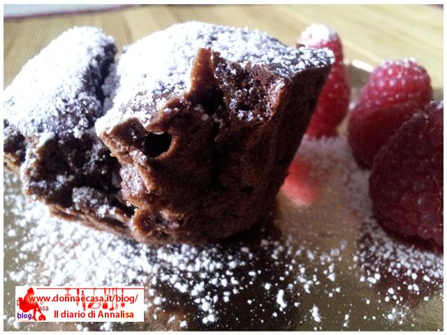 Tortino al cioccolato dal cuore caldo intero