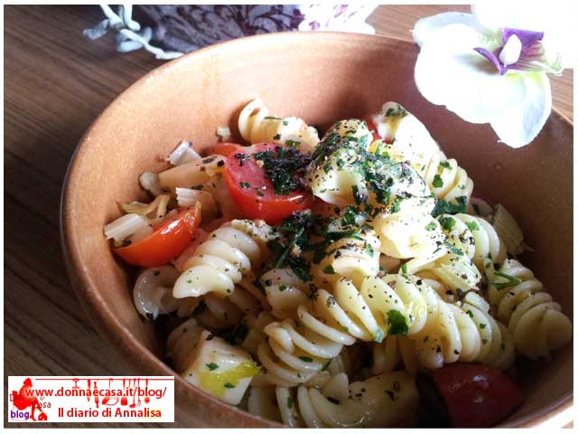 Pasta salad with celery image 1