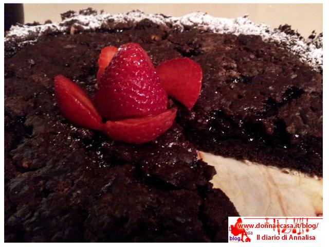 torta ciocco fragola da vicino