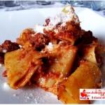Oven-baked paccheri a type of italian pasta