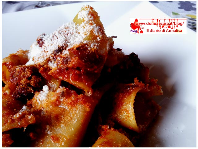Oven-baked paccheri a type of italian pasta image 1