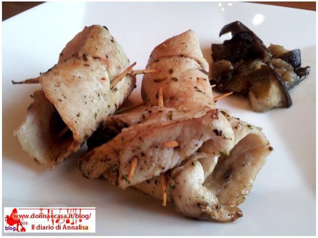 involtini di pollo melanzane foto 2
