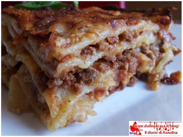 lasagne classiche da vicino