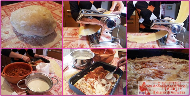 preparation of lasagne