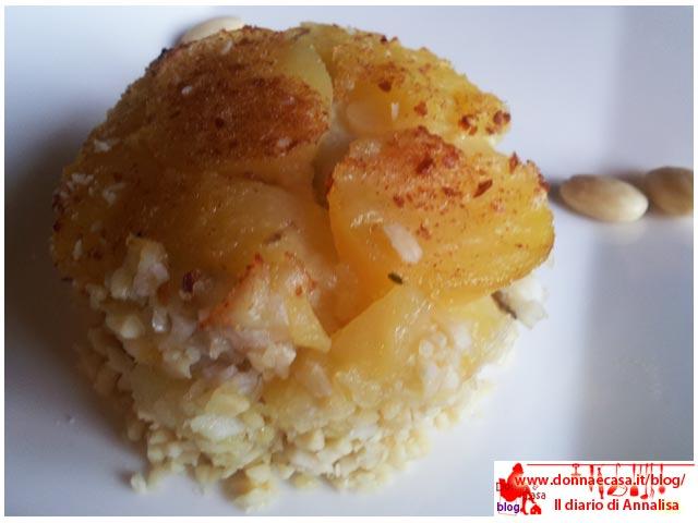 sformatino di sogliola e patate gratin
