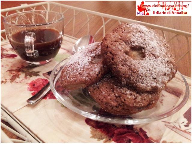 biscotti cacao pera con caffè