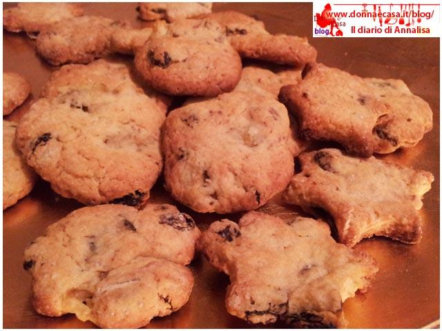 biscotti uvetta e mele sparsi