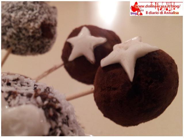 cake pops singolo ricoperto cacao