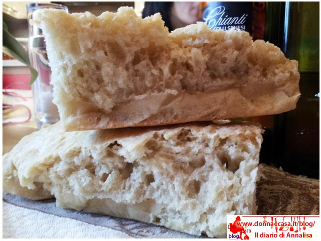 pane senza sale tipo toscano a pezzi