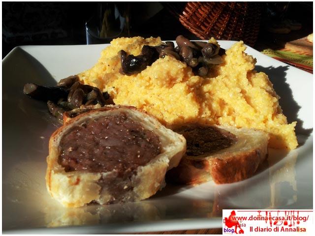 cotecone in crosta con polenta