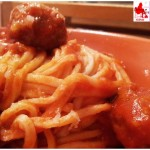 Spaghetti alla chitarra con sugo di polpettine