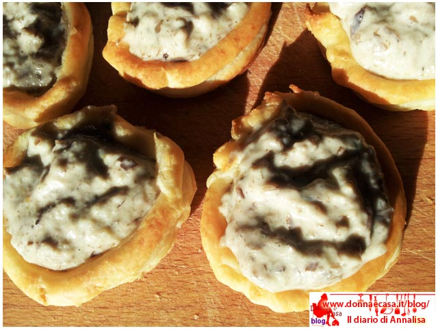 Voulevant stuffed with cream of mushroomi