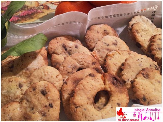 biscotti cioccolato arance