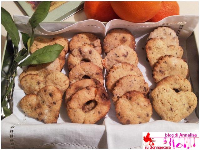 biscotti cioccolato arance presentazione