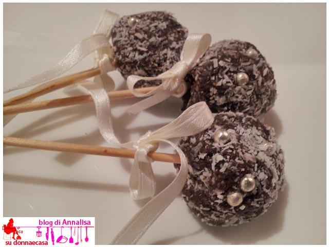 cake pops cocco cacao fiocco