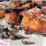 Friedcakes with chocolate drops