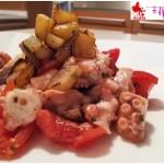 Insalata di polipo con patate croccanti