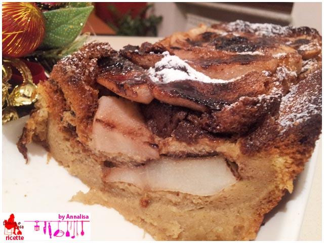 plumcake di pandoro riciclato aperto