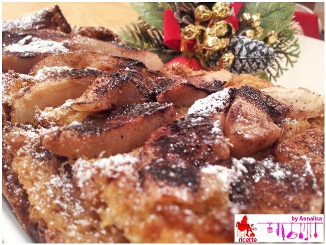 plumcake di pandoro riciclato ravvicinato
