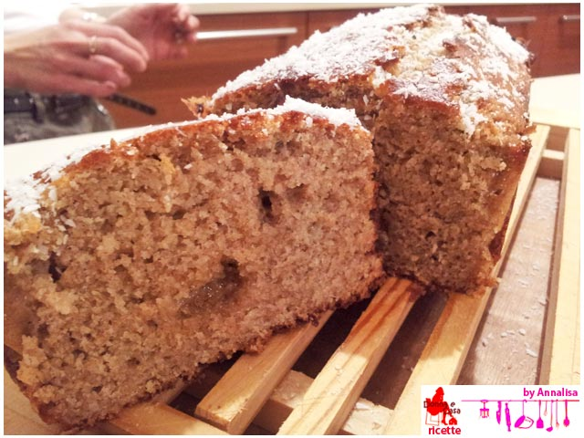 banana bread integrale aperto