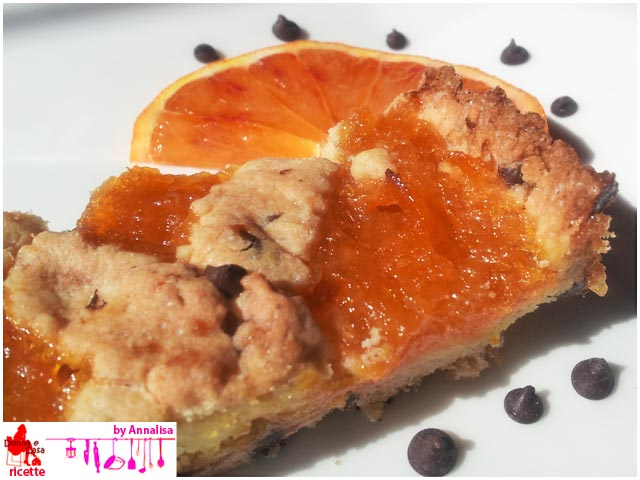 Tart with homemade orange marmalade foto3