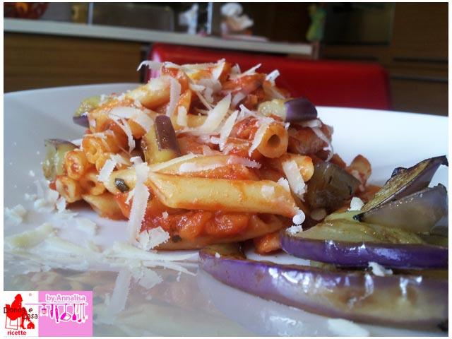 Pasta with eggplant photo 3