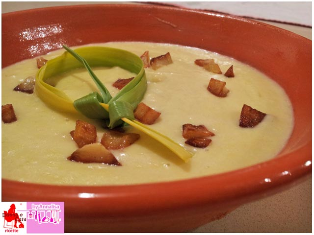 Cream of leek soup with red skin potatoes