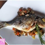 Sea bream baked with vegetables