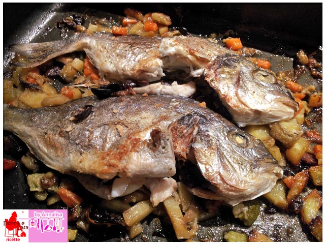 Sea bream baked photo 2