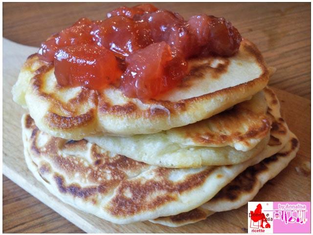 pancakes con farina di kamut