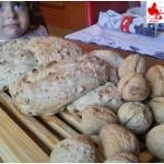 Treccia pane pistacchi noci