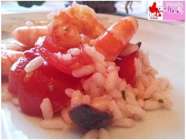 riso freddo ganberetti pomodorini