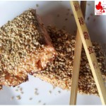 Salmon in sesame crust