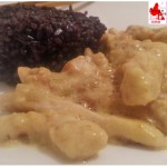 Pollo al curry con riso venere