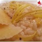 Risotto porri patate, mantecato al pecorino di grotta