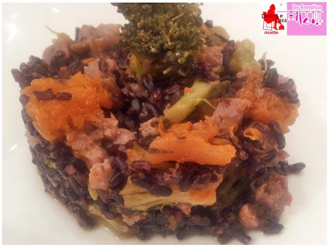 riso venere zucca broccolo salsiccia