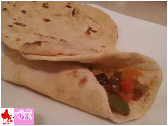 chapati rotolino con verdure