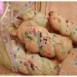 Colored cookies with kamut flour