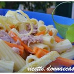 Salad of Pasta with carrots and lemon