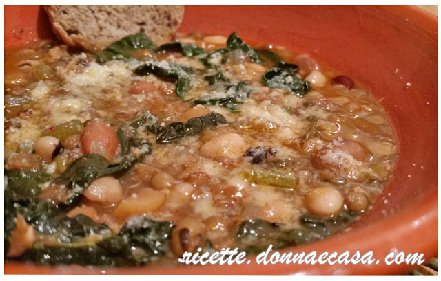 zuppa legumi cavolo nero