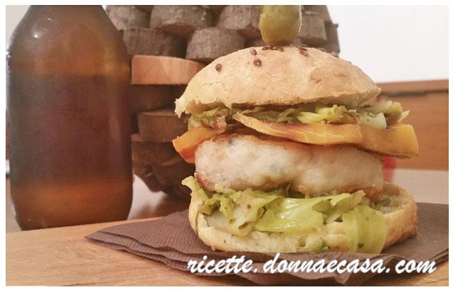 fish burger home made