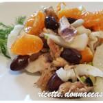 Insalata di pollo, finocchio e arancia