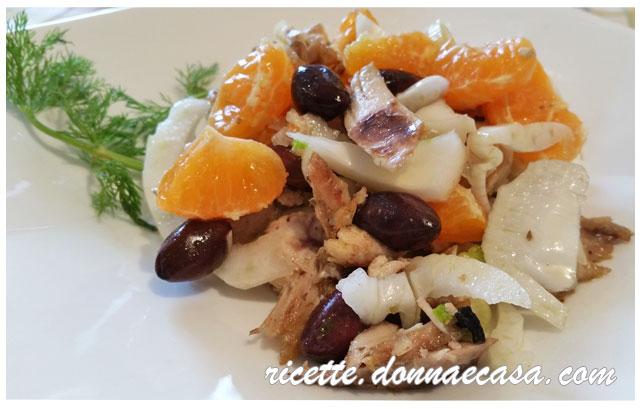 insalata di pollo finocchio arancia