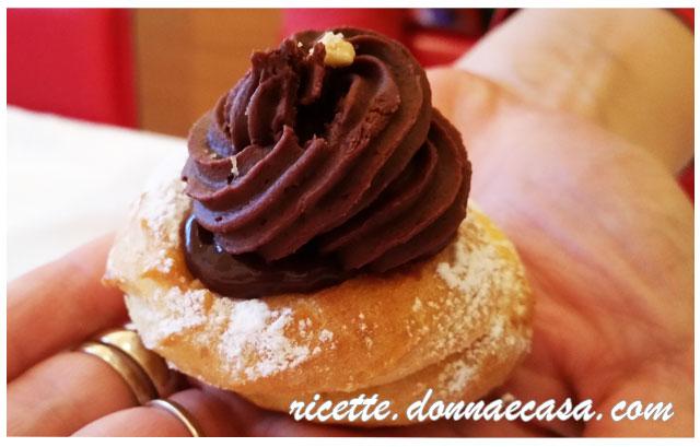 zeppole san giuseppe cioccolato