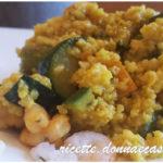 Miglio alla curcuma, verdure e gamberetti – gluten free