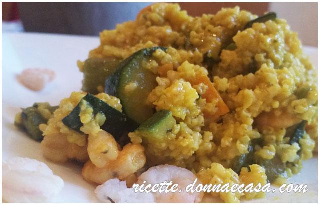 Miglio alla curcuma verdure e gamberetti gluten free for Cucinare miglio