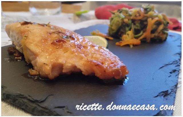 salmone grigliato al lime