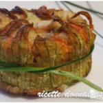Tortino patate, salmone e fiori di zucca