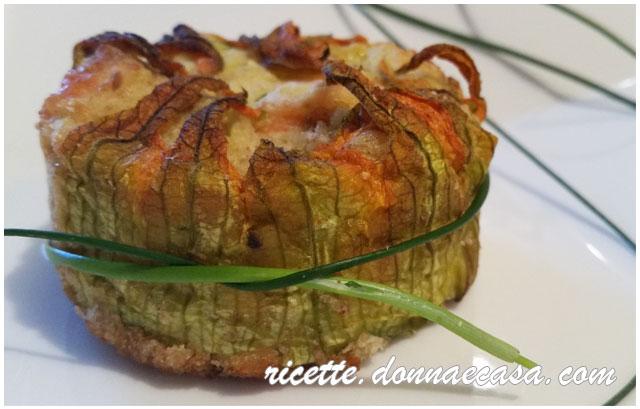 tortino patate salmone zucchine