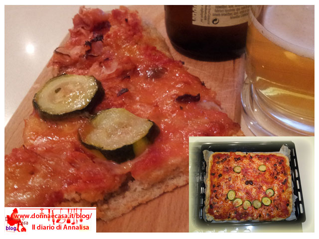 Pizza with whole wheat flour